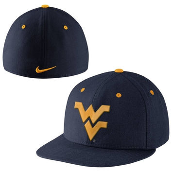 Nike West Virginia Mountaineers True Colors Authentic Performance Fitted Hat - Navy Blue