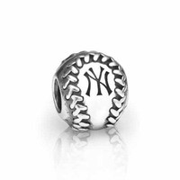 PANDORA New York Yankees MLB Baseball Charm