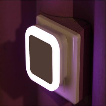 Newest LED Night Light With Control Auto Sensor Light For Home Indoor Art Lighting In White Yellow Blue Red AC110V 220V EU US