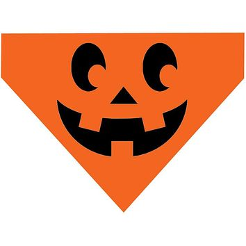Halloween Over the Collar Dog Bandana - Pumpkin Face