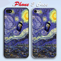 Starry Night TARDIS Custom iPhone 5 Case Cover