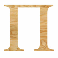 Wooden Sorority Letters (Different Sizes)