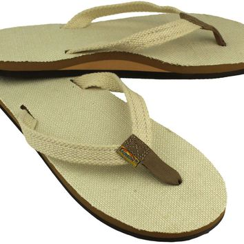 Women's Thin Strap Natural Hemp Single Layer Arch Sandal by Rainbow Sandals