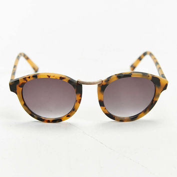 Matte Tort Metal Nose Round Sunglasses
