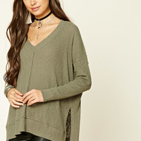 Oversized Slub Knit Top