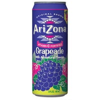 Arizona Tea Grapeade 23 Oz Big Cans Pack of 24