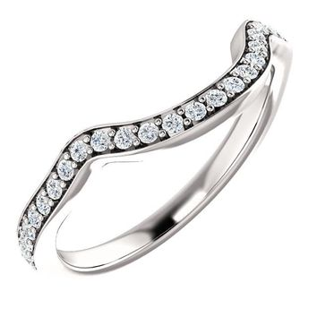 14k White Gold Band 6x3mm Marquise Ring