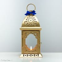 24K Gold Moroccan Metal Candle Holder — Open Vintage Shutters