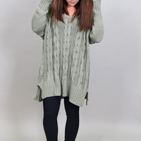 What I Want Oversized Knit {Sage}