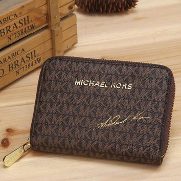 MK 2017 Pure elegant leather printing wallet purse bag [54395830284]