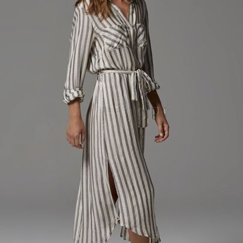 Boyfriend Stripe Shirt Dress