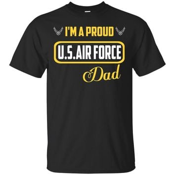 Cool Military Proud US Air Force Dad Round Gift T-shirts