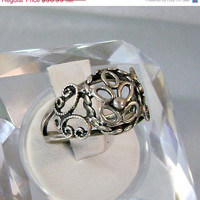 ON SALE Vintage Beau Silver Ring