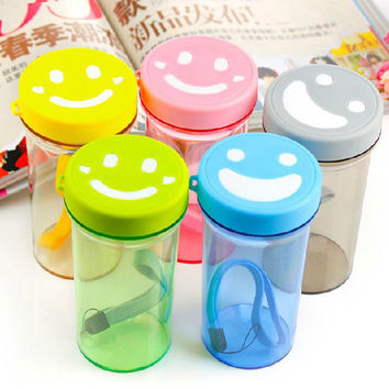 2016 Creative Water Bottles Smiley mood couple mugs with a Rope Plastic cup 350ml for Hot Cold Drinks Leak Proof Travel Tumbler