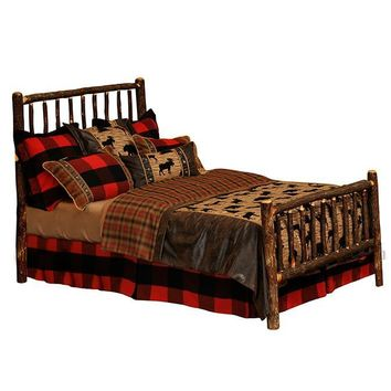 Hickory Traditional Bed - Queen