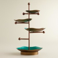 Turquoise and Green 4-Tiered Jewelry Stand - World Market