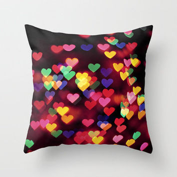 Hearts All Over Throw Pillow by Amelia Kay Photography | Society6
