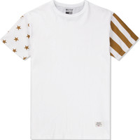 White/Gold Mr.Metallic USA T-Shirt