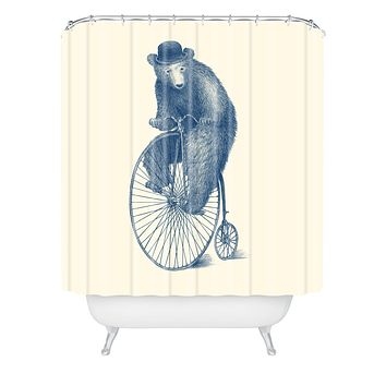 Eric Fan Morning Ride Shower Curtain