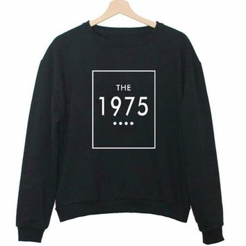 THE 1975 Letter Print Women Fashion Sportswear Hoodies Loose Pullover Lady Moletons Crewneck Couple Sweatshirts Baseball Jersey
