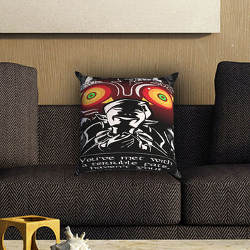 Legend Of Zelda Majoras Mask Quote Pillow Cover , Custom Zippered Pillow Case One Side Two SIde