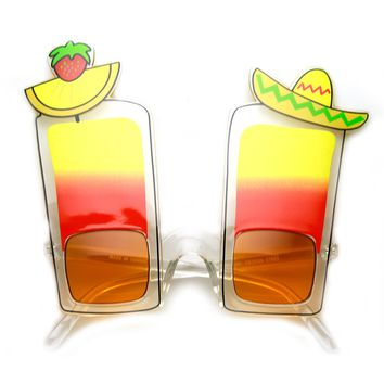 Fiesta Cinco De Mayo Tequila Sunrise Drink Party Novelty Sunglasses