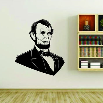 Abe Lincoln President Vinyl Wall Decal Sticker