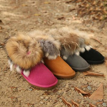 UGG Women Fashion Fur Leather Snow Boots Shoes