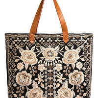 Johnny Was Women's Taupe Lane Everyday Tote
