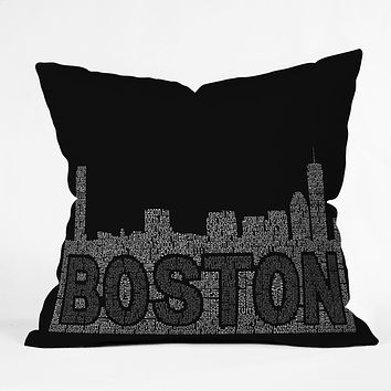 Restudio Designs Boston Skyline 2 Throw Pillow