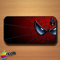 Spider Man Web Face Custom iPhone 4 or 4S Case Cover
