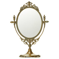 Mirrors, Glorenza Accent Mirror, Burnished Brass, Small Accent Mirrors