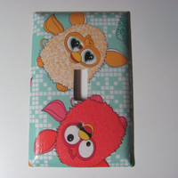 Furby light switch cover single toggle  double par Sellingitforyou