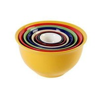 Sensations II 8-Piece Nesting Bowl Set, Rainbow: Kitchen & Dining