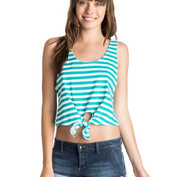 Beach Babe Cropped Tie Front Top 888701622291 | Roxy