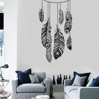 Wall Vinyl Decal Dreamcatcher Feather Romaniic Decor Unique Gift z3688