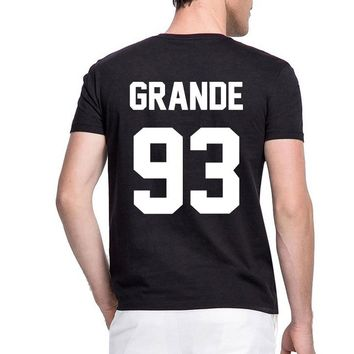Drop Shipping Trendy GRANDE 93 Women Men T Shirt Awmblr Ootd Ariana Truly 1993 Shirt Casual Funny T-shirt for Lady Top Tee
