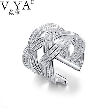 Free Shipping Silver Plated Ring Fine Fashion Big Net Weaving Silver-plated Jewelry Ring Women&Men Gift Finger Rings YFSR024