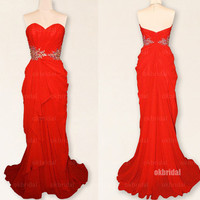 red prom dresses, one shoulder prom dresses, dresses for prom, prom dresses 2014, cute prom dresses,  cheap bridesmaid dresses, RE416