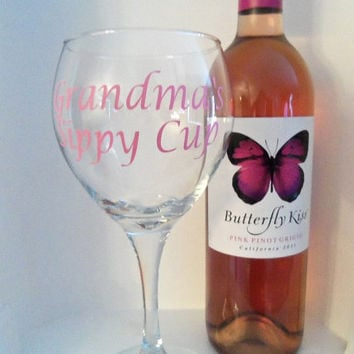Personalized Grandmas Sippy Cup, Wine Glass, Gift For Her, Valentines Day Gift, Gift, wine glasses,