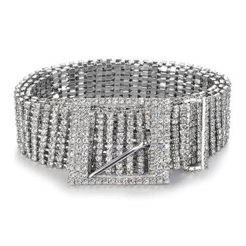 Crystal women's belt