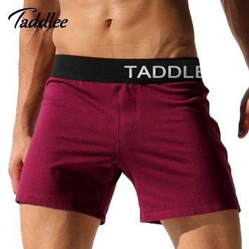Taddlee Brand Men Sexy Boxer Shorts Gay Cotton Man Man new Active Shorts Trunks Mens Workout Jogger Sweatpants Casual