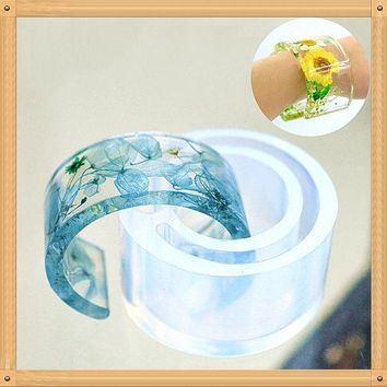 ac spbest Silicone Mold Resin Bracelet Bangle Casting Mould Jewelry Making Tools DIY Clear t15