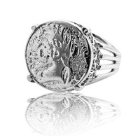 Silver ring Coin Ring Silver Jewelry Vintage Ring Coin Jewelry designer ring hand made