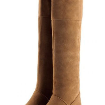 Soft Leather Knee-High Boots