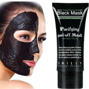 Black Mud Face Mask Blackhead Remover Deep Cleansing Peel Acne