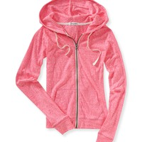 Heathered Full-Zip Hoodie - Aeropostale
