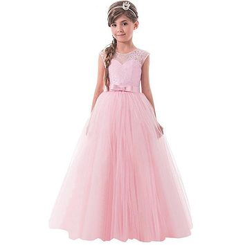 Girls Party Dress Brand Summer Dress Girl Wedding Gown Teen Girl Wear Dress Princess Little Lady Children Ceremony Maxi Dresses