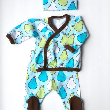 Baby Boy Outfit - Boy Going Home Outfit - Boy Pants and Shirt - Newborn - Layette - Baby Shower Gift - Zaaberry - READY TO SHIP