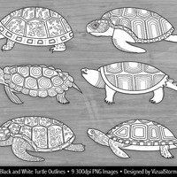 Black and White Turtle Clipart, Turtle Outlines, Sea Turtle Coloring Book Clipart Kids, Tortoise Clipart Black Line Turtles Coloring Clipart